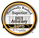Nationally Ranked Superior DUI Attorney 2015 Award