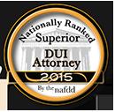 Nationally Ranked Superior DUI Attorney 2015 Award